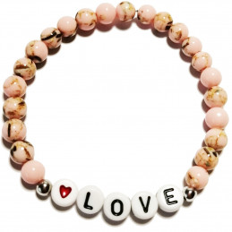"Bracelet with message ""Love"""