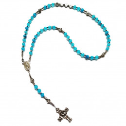 Our Lady's Rosary - blue agate