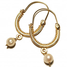 "Konavle earrings ""White Pearl"""