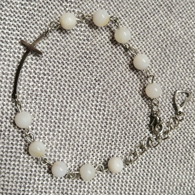 Rosary bracelet - Mother of pearl