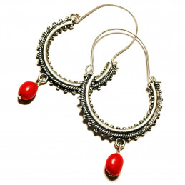 "Konavle earrings ""Coral"""