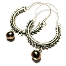 "Konavle earrings ""River pearl gray"""