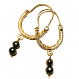 "Konavle earrings ""Gray Pearl"""