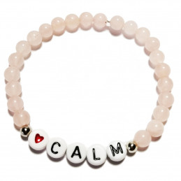 "Bracelet with message ""Calm"""