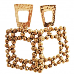 "Earrings ""Cube Gold"""